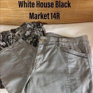 WHBM gray jeans 14R